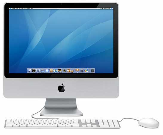 Apple iMac 20in Core 2 Duo 2.4GHz 2GB RAM 320GB HDD MA877BA A1224